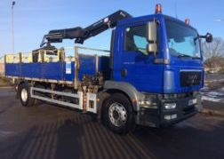 Photography of 2010 60 MAN TGM 18.250 DROPSIDE FRONT MOUNTED CRANE EURO 5