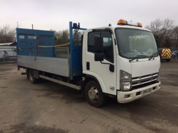 2012 62 ISUZU NPR-75 190 DROP SIDE WITH TAIL LIFT EURO 5