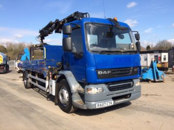2007 07 DAF LF55.250 DROP SIDE FRONT MOUNT CRANE EURO 4