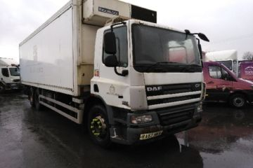 2008 57 DAF CF75.310 6X2 FRIDGE BOX EURO 4