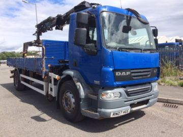 2007 07 DAF LF55.250 DROP SIDE BODY FRONT MOUNTED CRANE EURO 4