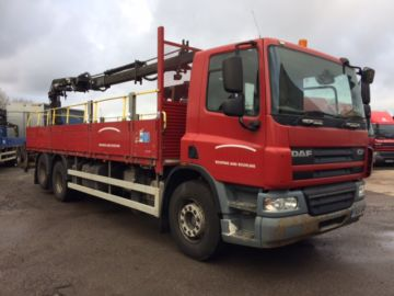 2008 08 DAF 75.310 REAR MOUNT CRANE EURO 4