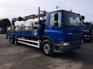 2008 08 DAF CF75.310 REAR MOUNTED CRANE EURO 4